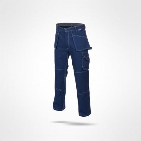 Spodnie w pasek monterskie BOSMAN